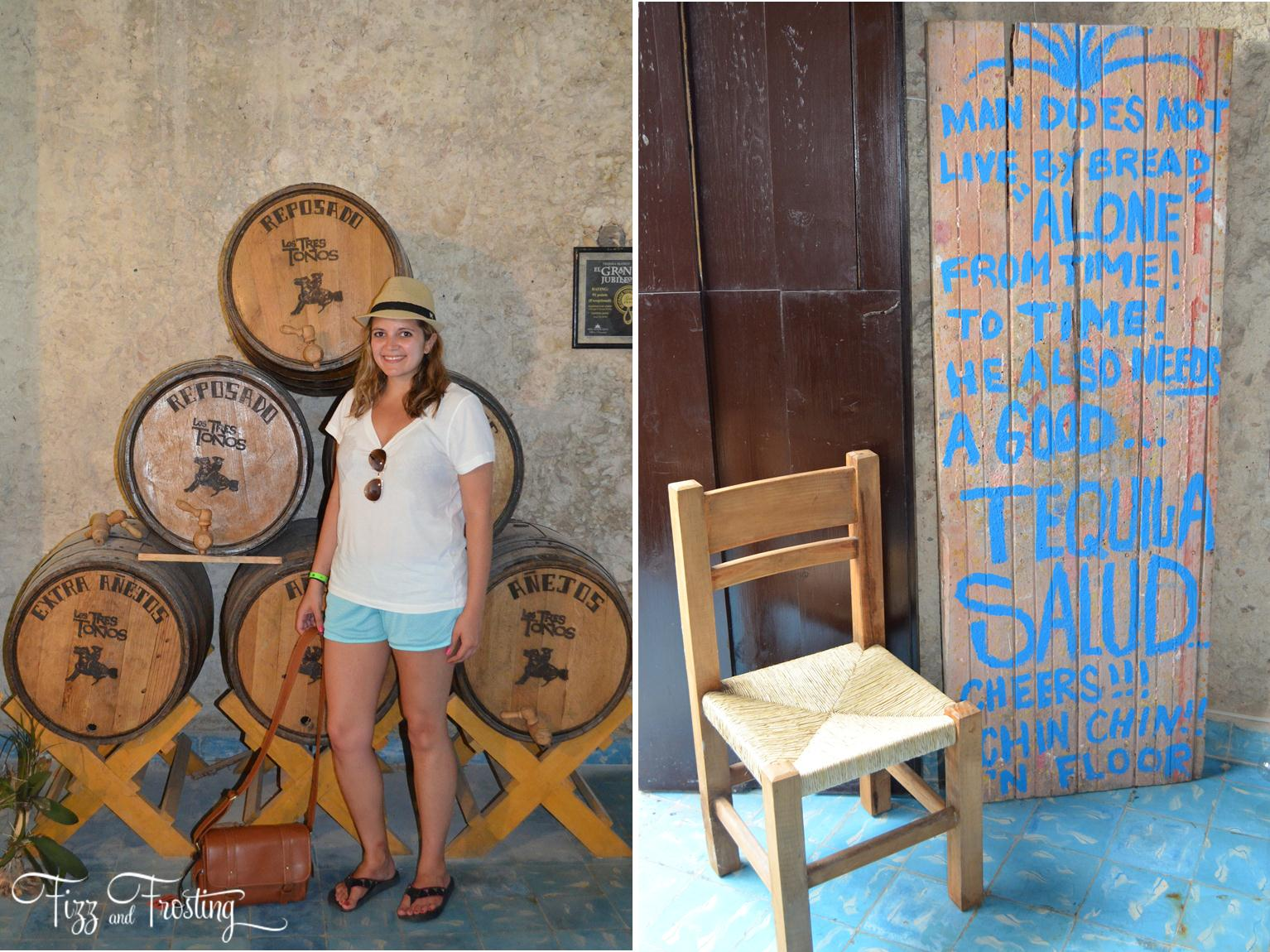 tequila tasting near cancun is a must-do while on vacation in Mexico! - Click through to see about the other sites you won't want to miss! | www.bylaurenm.com