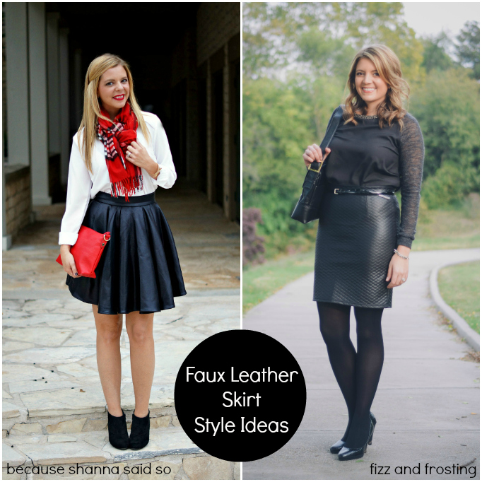 Two Ways to Wear a Leather Skirt | By Lauren M