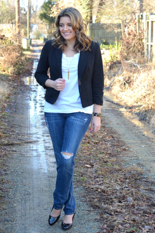 Tee And A Blazer By Lauren M