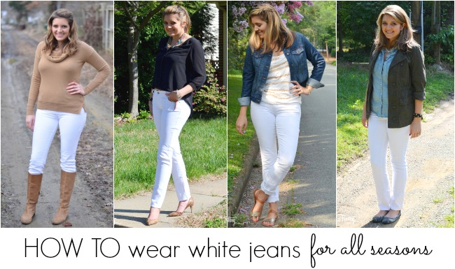 d61a5e23d6 how to wear white jeans for all seasons