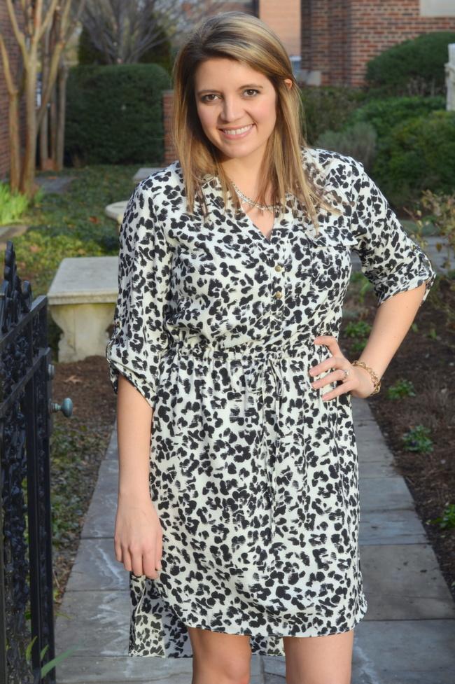 3d047acdf253 snow leopard print dress | By Lauren M