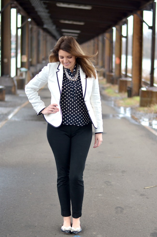 Modern Black and White for Work | By Lauren M