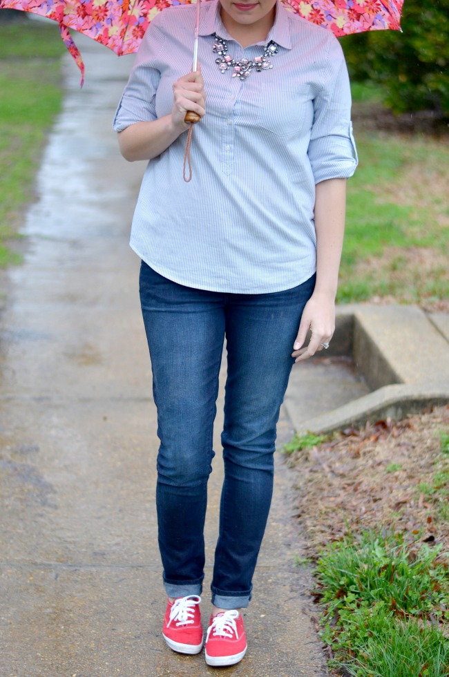 dress down skinny jeans for weekend
