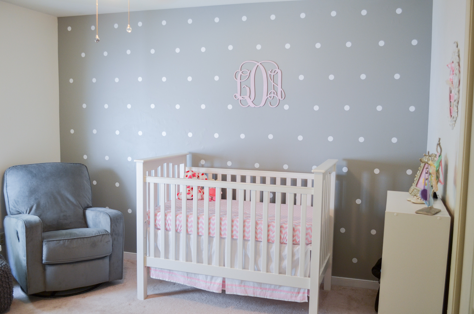 Superb polka dot nursery wall polka dot accent wall instuctions bylaurenm