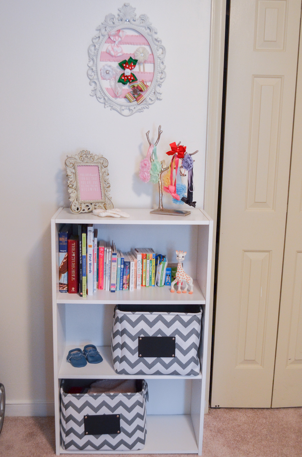 pink, grey, and white nursery - pink grey nursery ideas   bylaurenm.com
