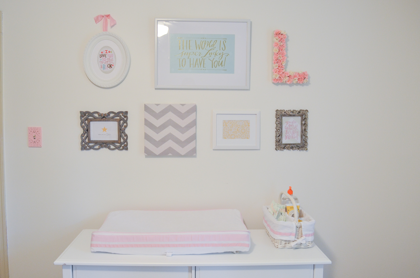 Pink Grey And White Nursery Pink Gray Nursery By Lauren M - Pink and grey nursery decor