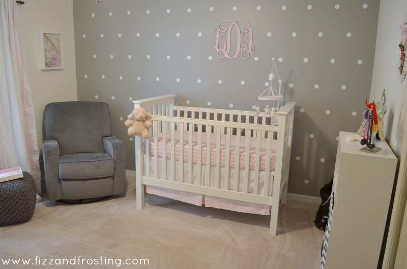 pink grey and white nursery by lauren m. Black Bedroom Furniture Sets. Home Design Ideas