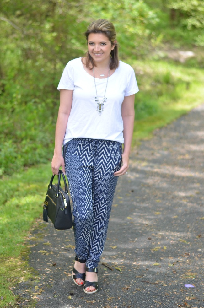 Patterned Joggers By Lauren M Extraordinary Patterned Joggers