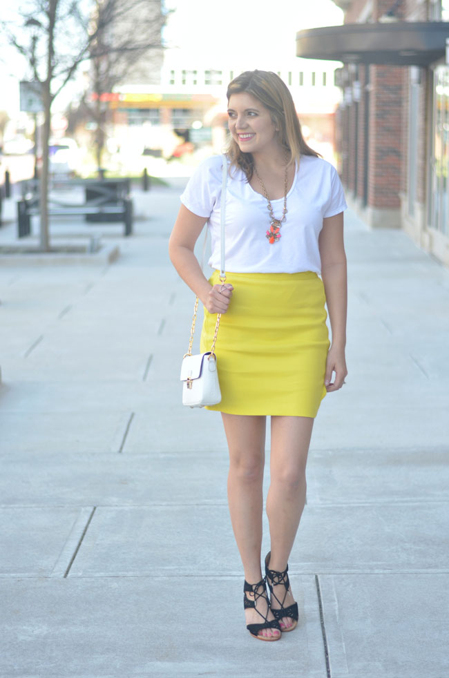 80d863b863 bright yellow skirt for Spring | By Lauren M