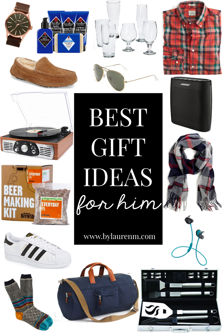 the best gifts for him by lauren m