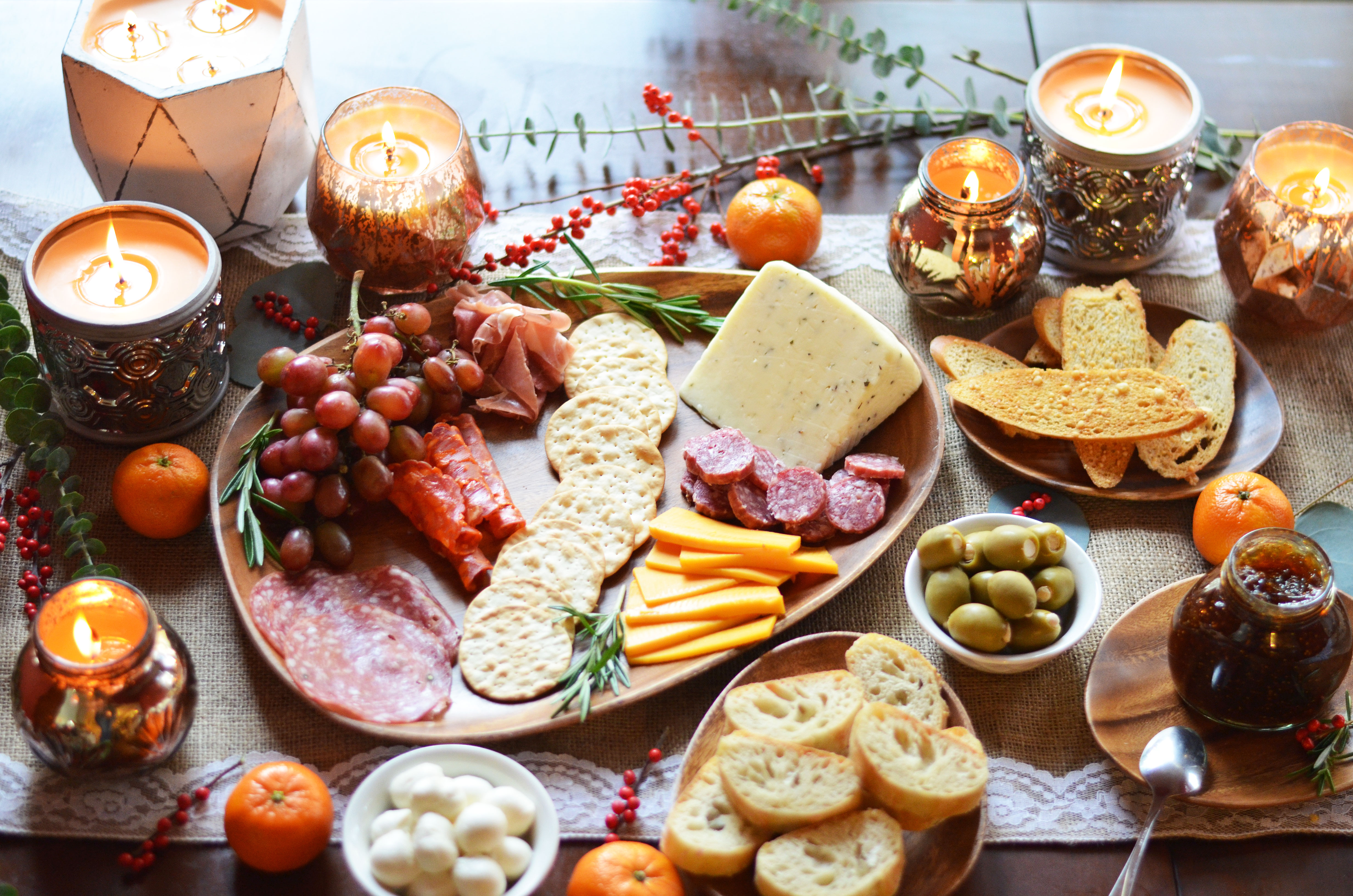 diy charcuterie spread - perfect meat and cheese plate | www.bylaurenm.com