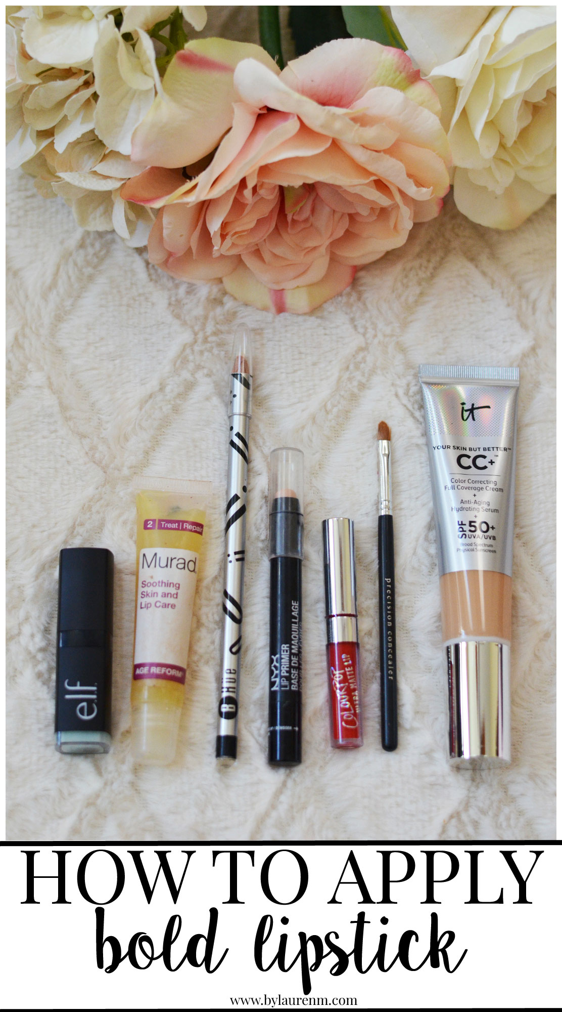tips for applying bold lipstick - necessities to apply bold lipstick | www.bylaurenm.com