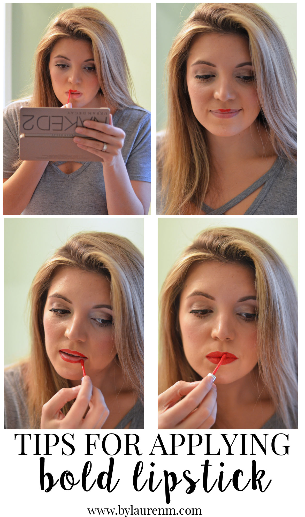 tips to apply bold lipstick | www.bylaurenm.com