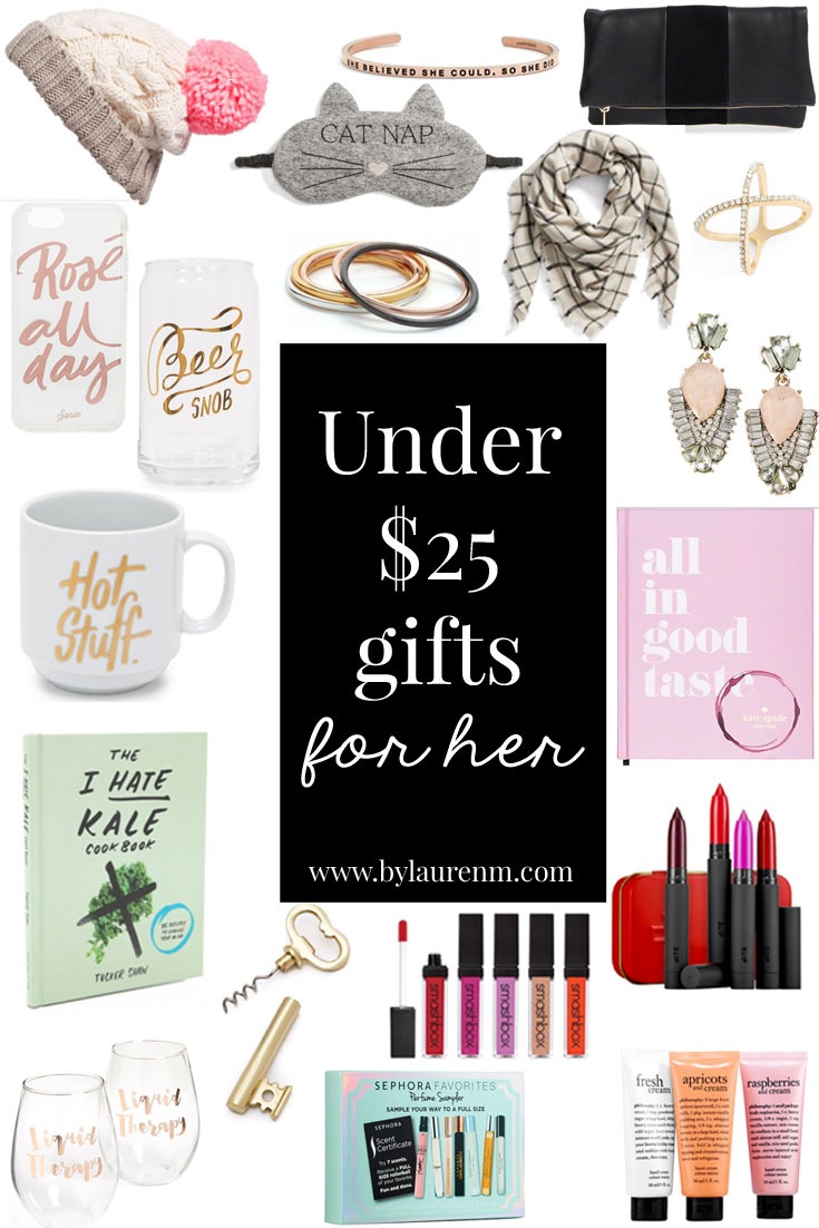 gifts under $25 for her - the best hostess gifts, gifts for your BFF, stocking stuffers under $25 | www.bylaurenm.com