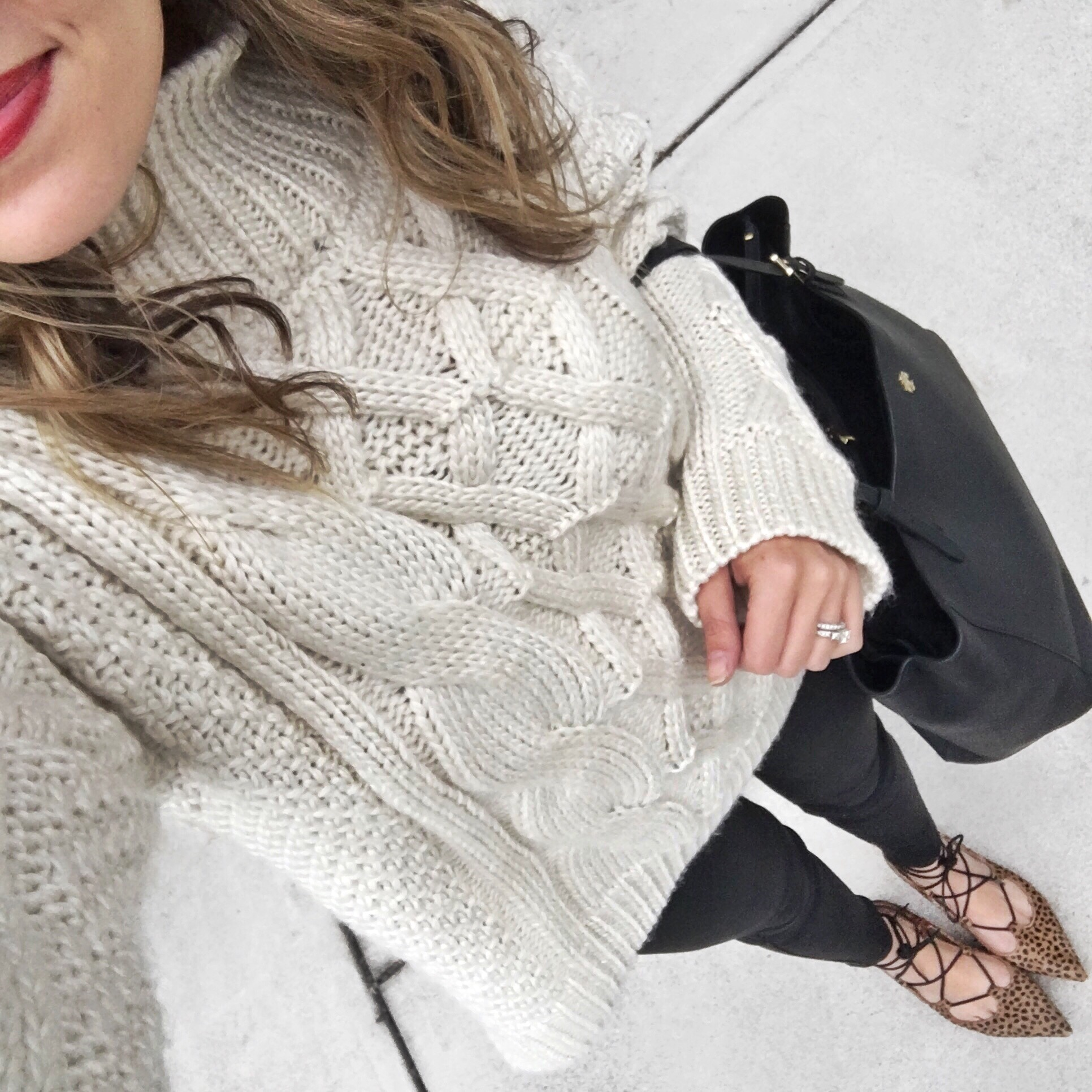 Oversized cable knit sweater - By Lauren M | bylaurenm.com
