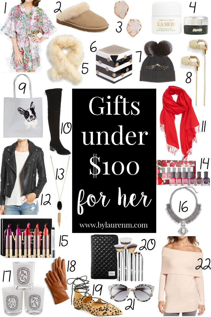 best gift ideas under $100 - gifts under $100 | www.bylaurenm.com