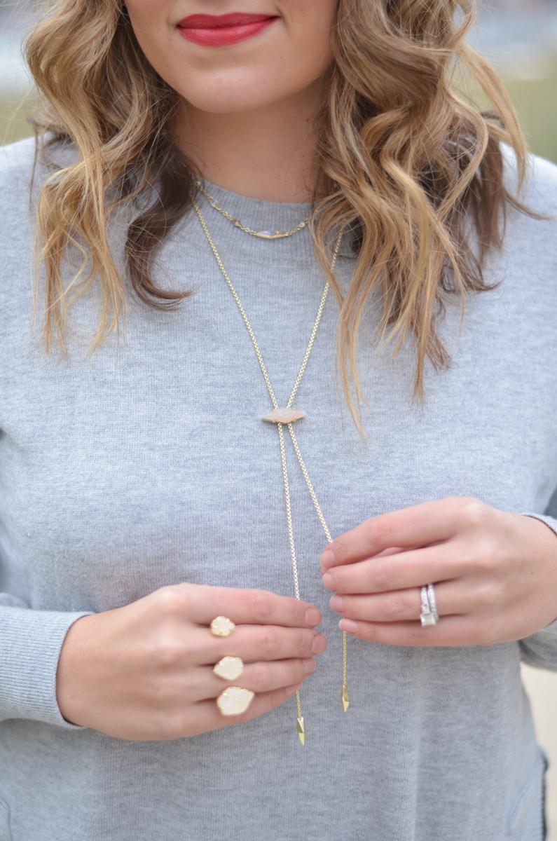 kendra scott jewelry - debra choker, cheska necklace, naomi double ring | www.bylaurenm.com
