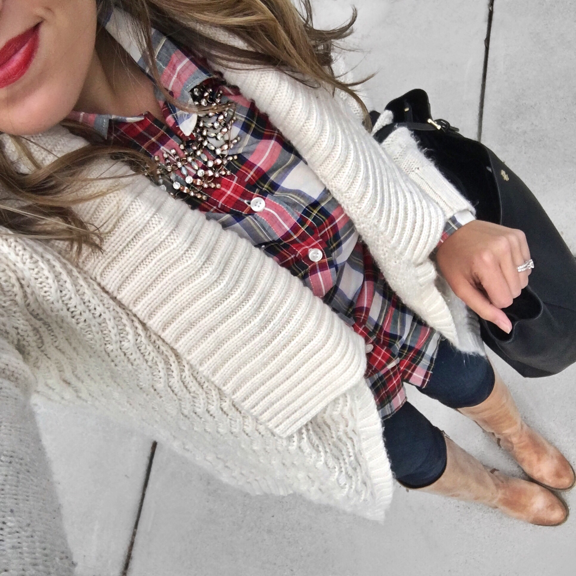 plaid winter outfit | bylaurenm.com | instagram.com/laurenmdix