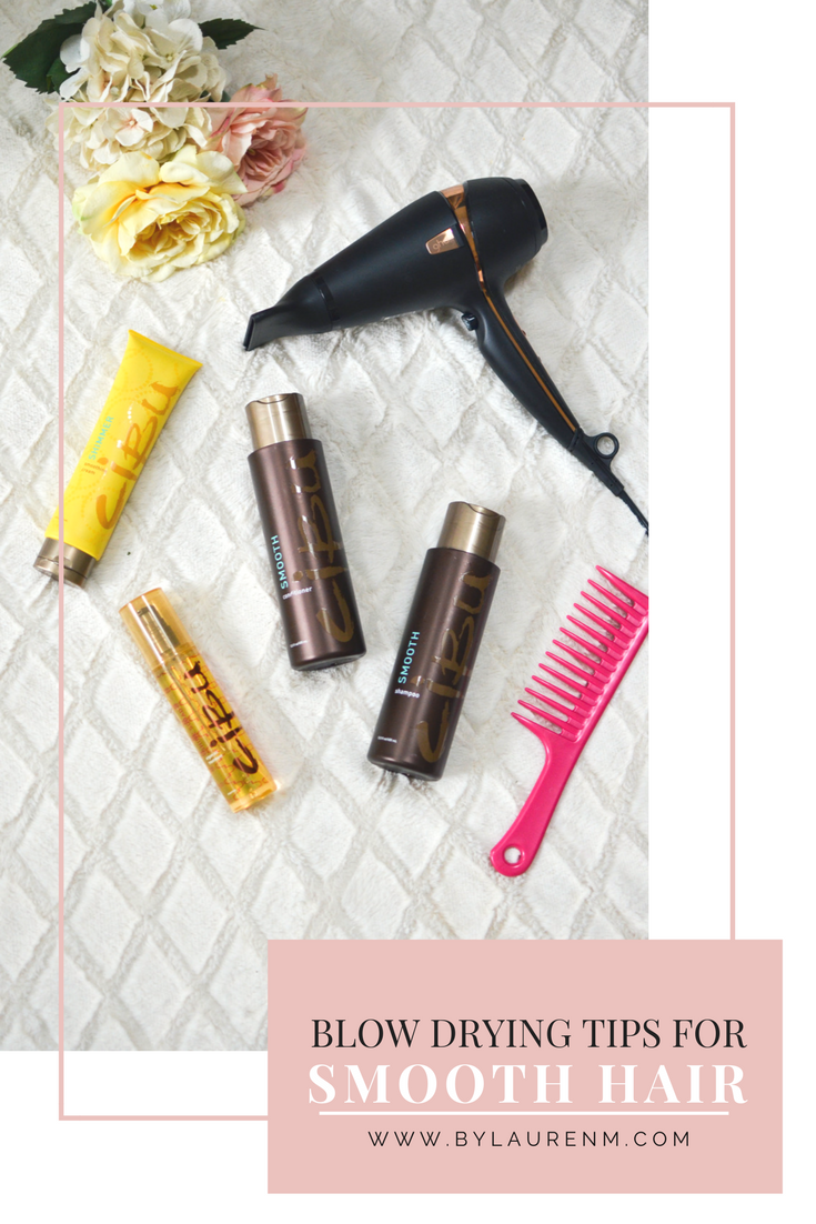 blow drying tips for smooth hair. Click through to see all my tips for frizz-free locks without ever touching a flat iron! | www.bylaurenm.com