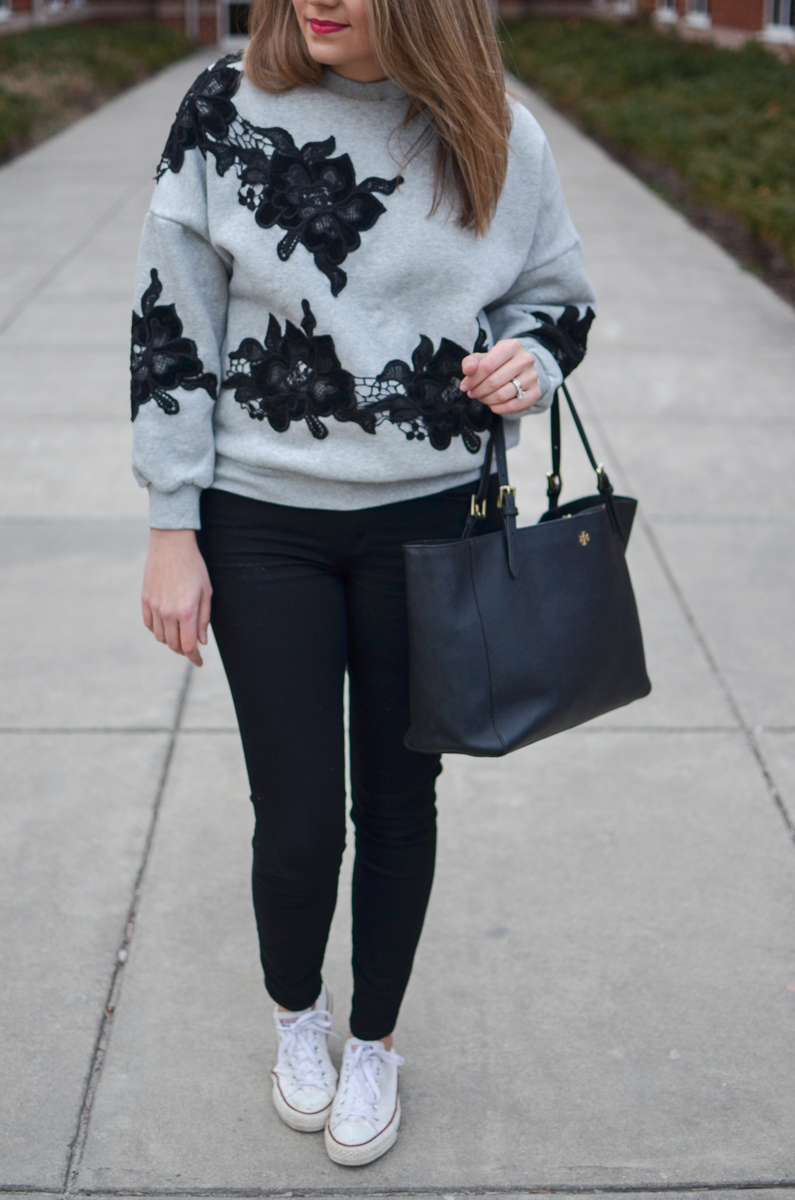 ways to wear a sweatshirt - Click through for more cute casual outfits or to shop this look! | www.bylaurenm.com