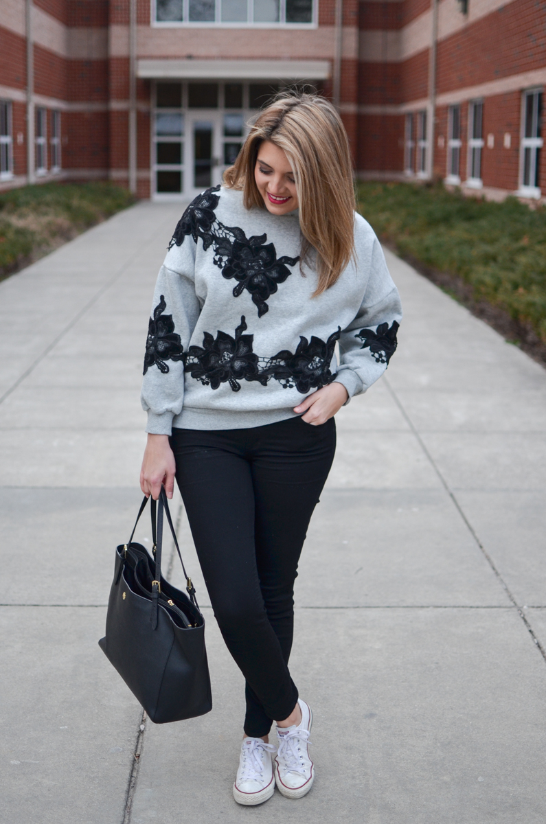 weekend outfits - how to wear a sweatshirt. Click through for more cute casual outfits or to shop this look! | www.bylaurenm.com