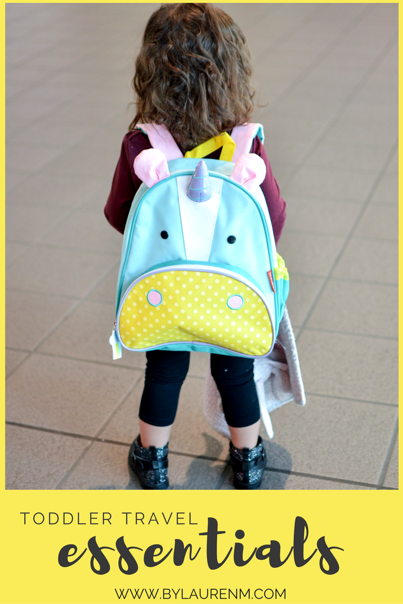 toddler travel essentials - must-haves for traveling with a toddler | www.bylaurenm.com