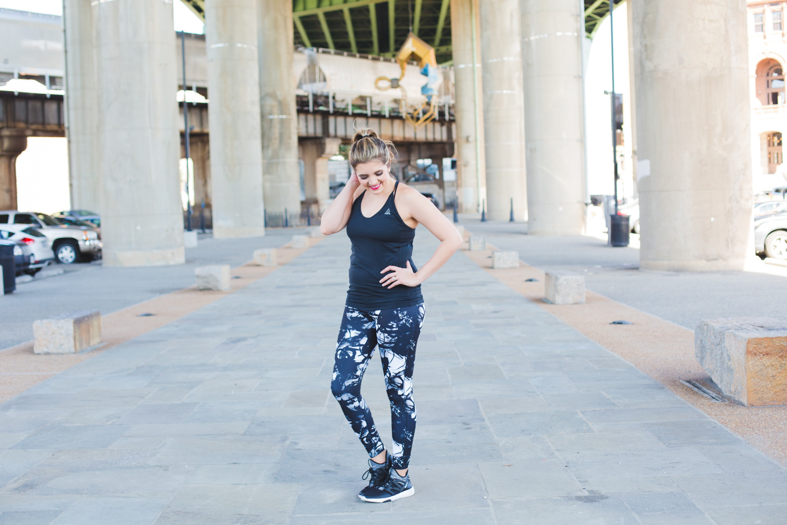 comfy workout clothes - comfortable workout leggings. I've been loving these super-soft printed leggings for all my workouts! Click through for all the details! | www.bylaurenm.com