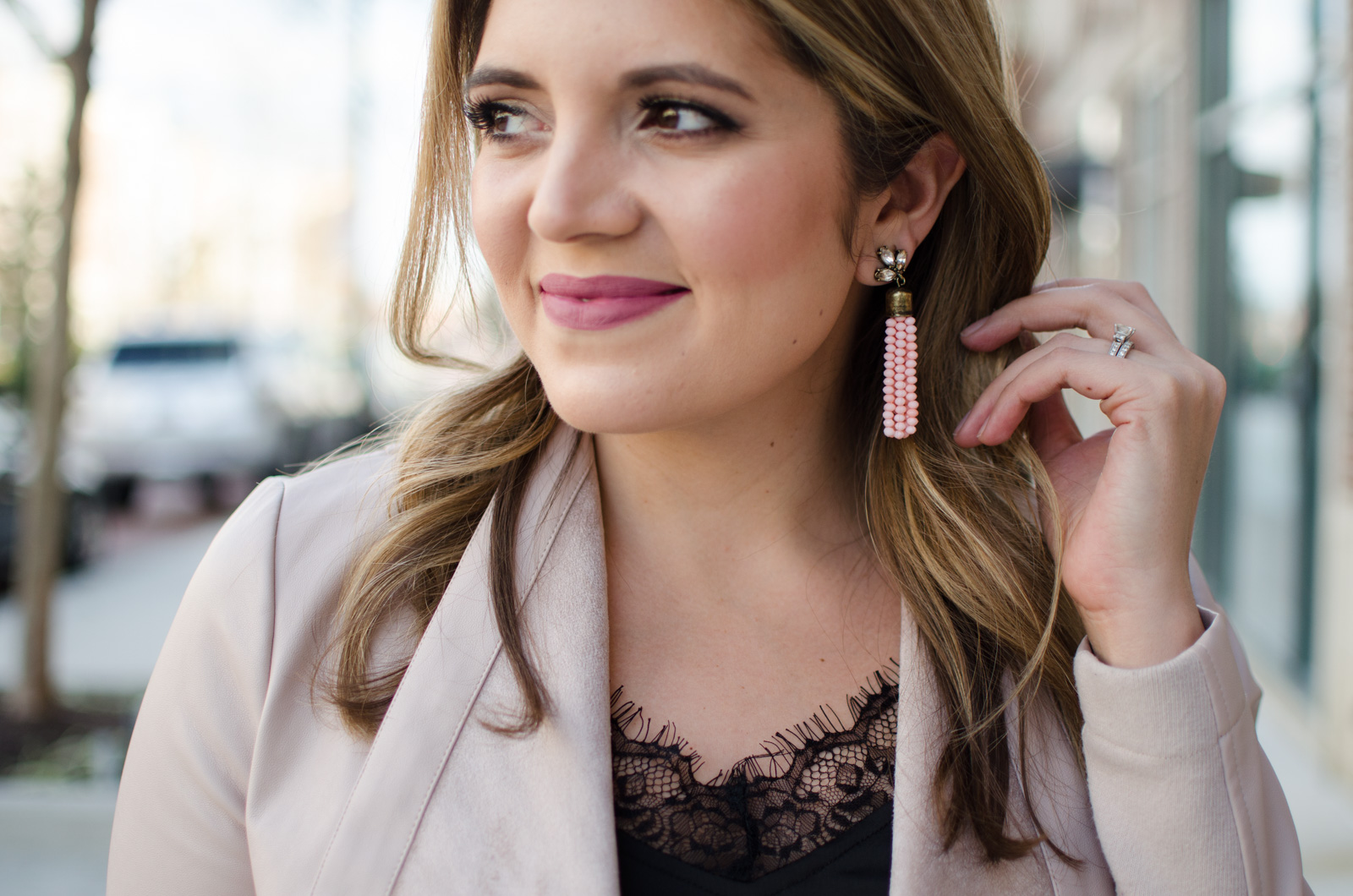 blush tassel earrings | Click through for more casual outfits or to shop this look! www.bylaurenm.com
