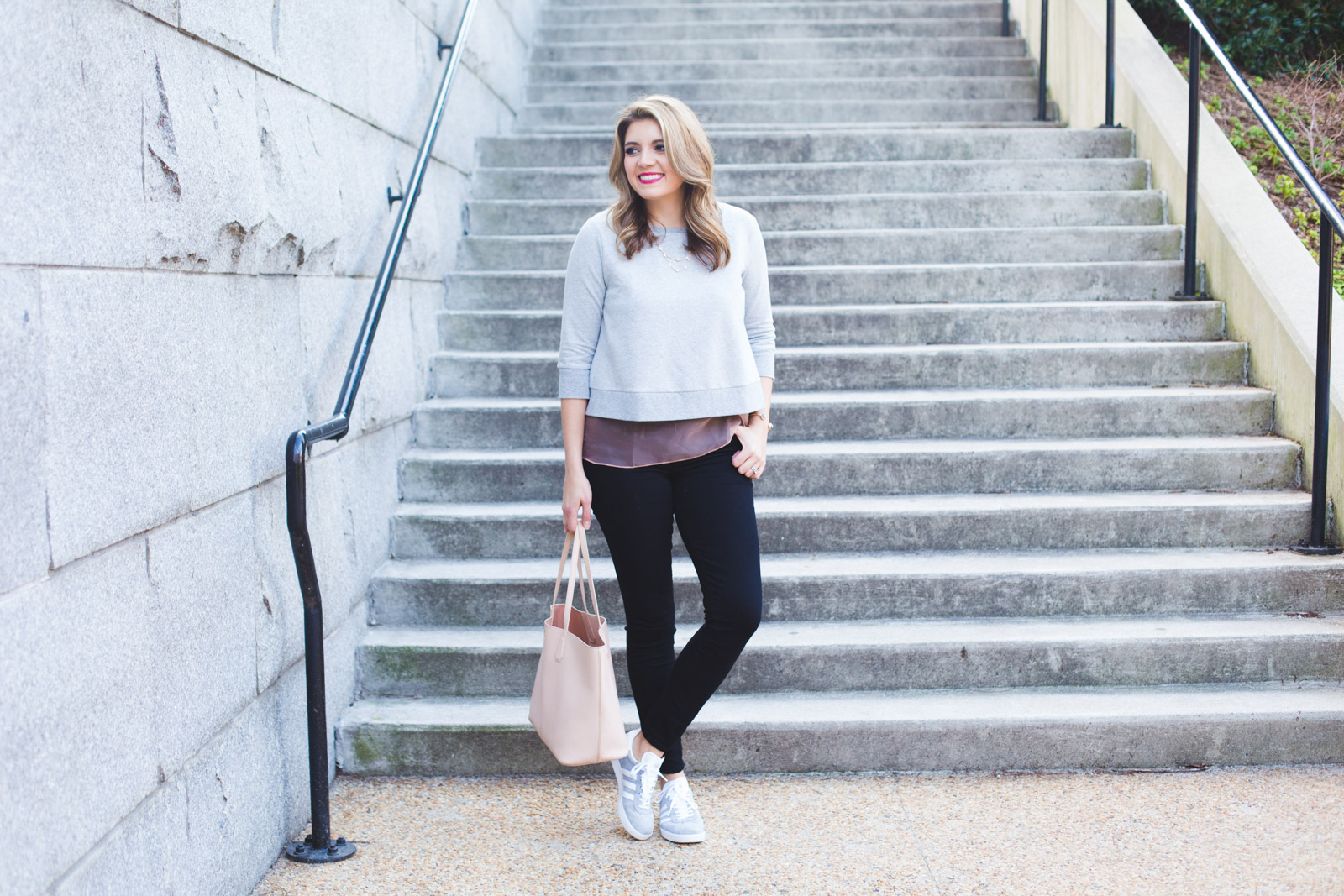 bow back sweatshirt - cute spring weekend outfit. Click through for more casual Spring outfits or to shop this look! www.bylaurenm.com