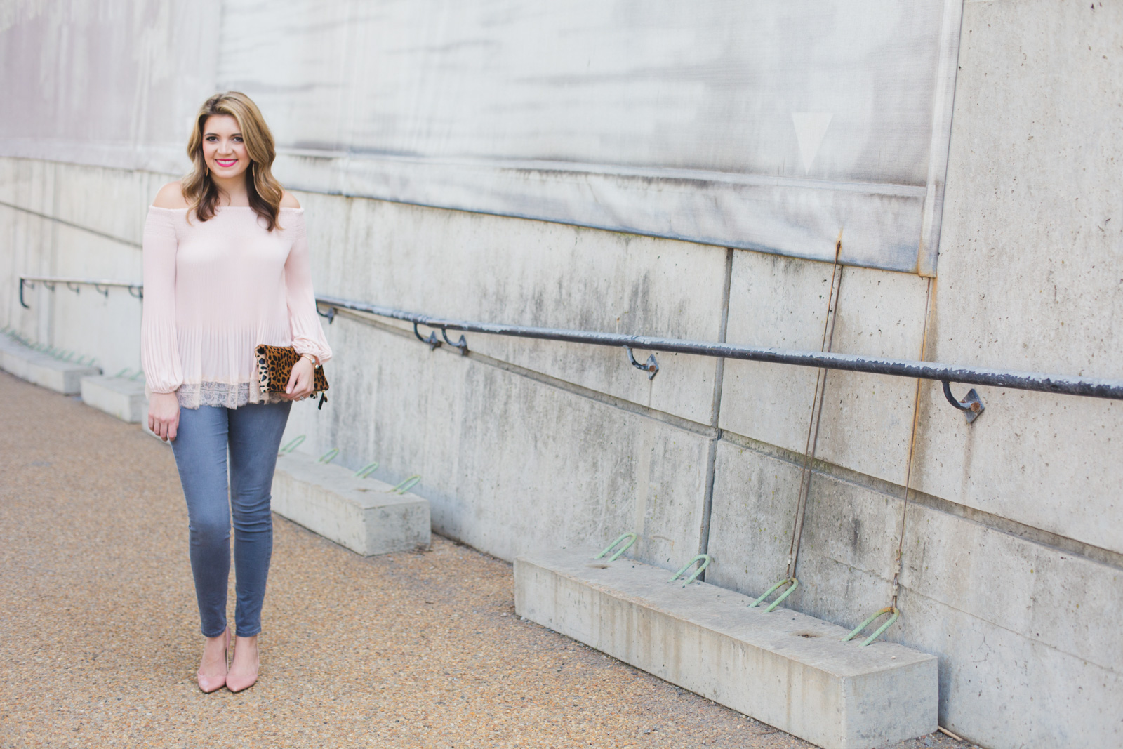 blush and gray Spring date night outfit - Click through for more cute outfits or to shop this look! | www.bylaurenm.com