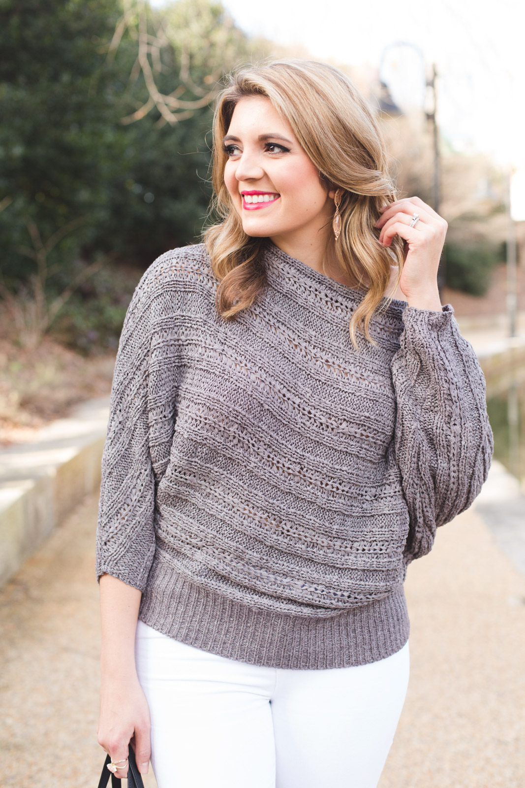 Spring Off Shoulder Sweater By Lauren M