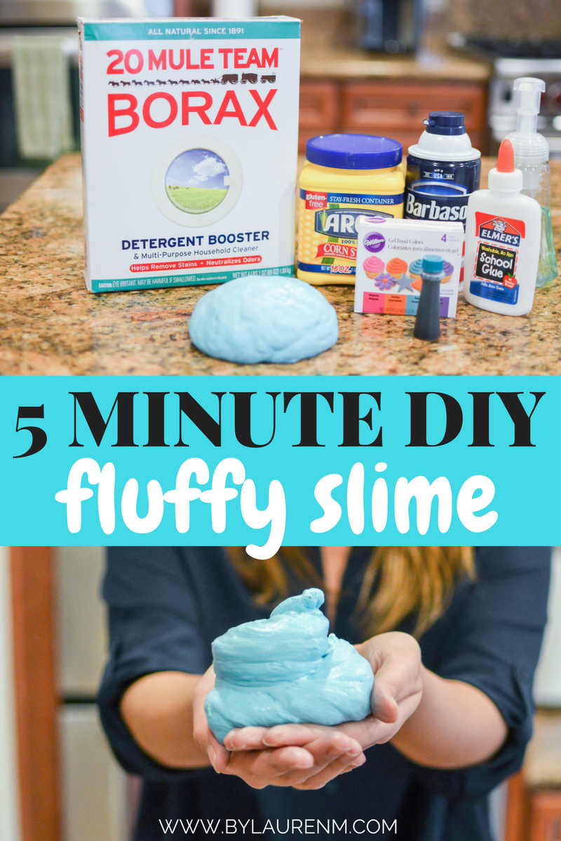 super quick fluffy slime diy - You'll have so much fun playing with this easy DIY slime! | www.bylaurenm.com