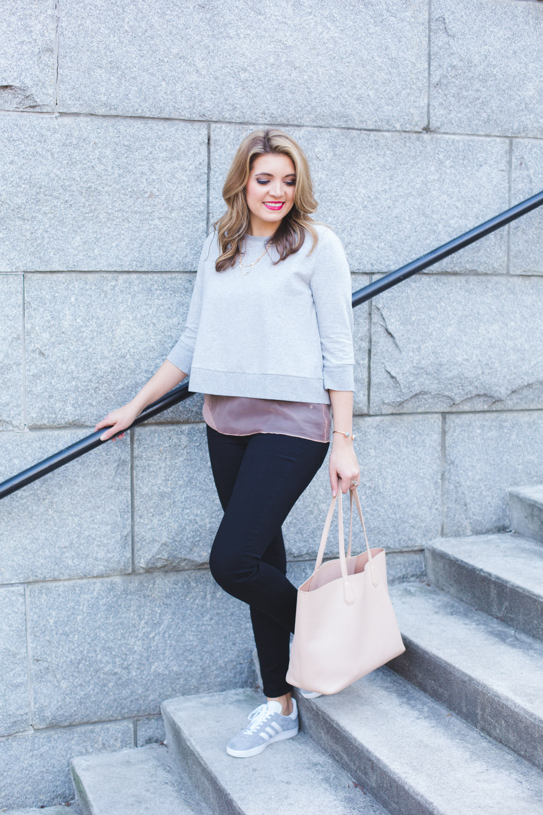 spring casual outfit with sneakers. Click through for more casual Spring outfits or to shop this look! www.bylaurenm.com