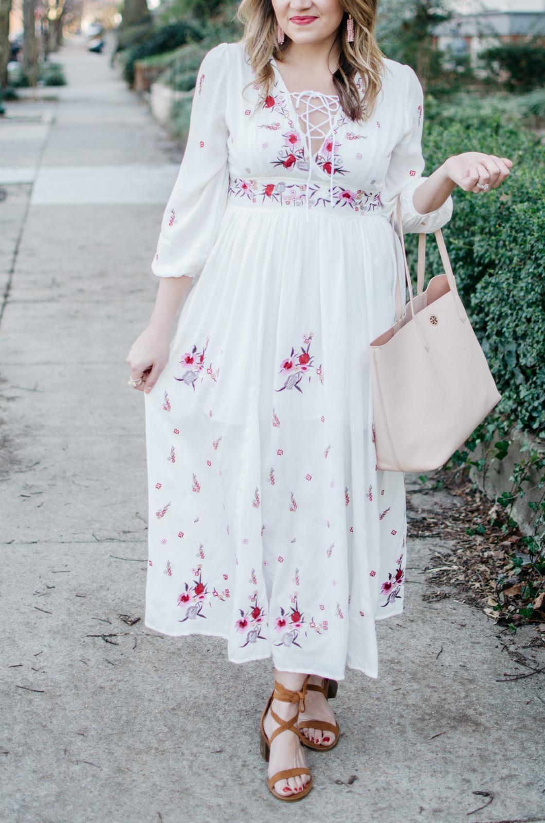 embroidered maxi dress - spring boho outfit - Click through for more cute Spring outfits or to shop this look! | www.bylaurenm.com