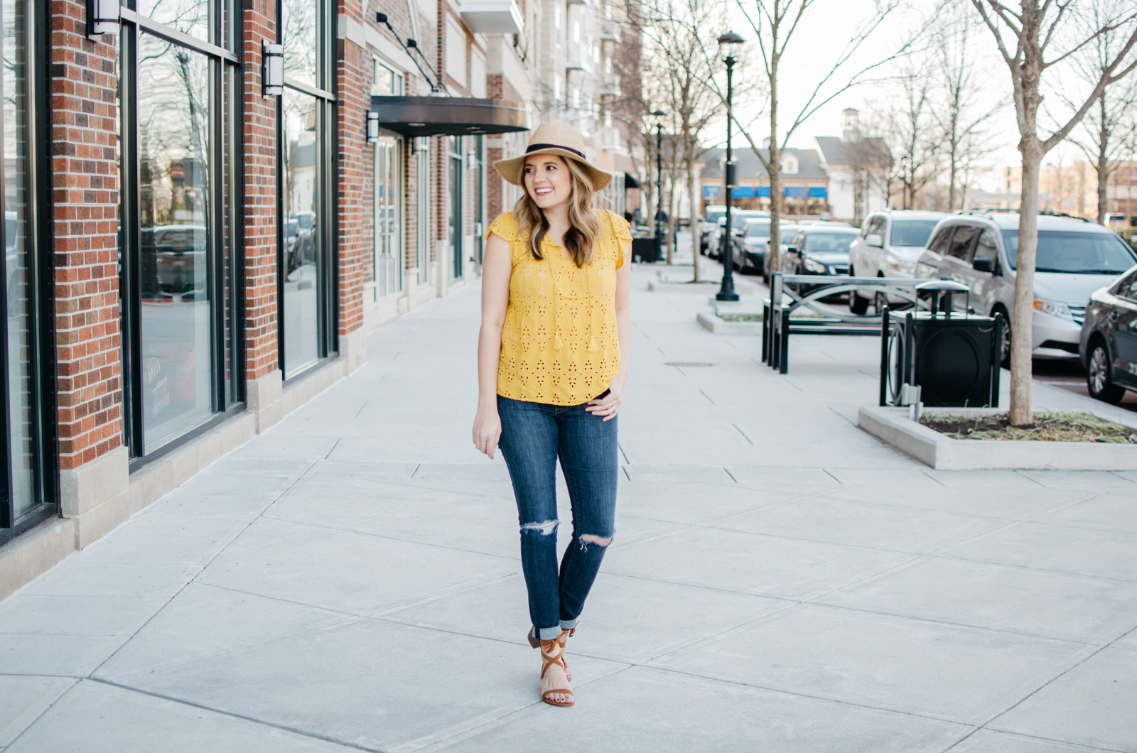 cute spring outfit idea with yellow top - click through for more Spring outfits or to shop this look! | www.bylaurenm.com