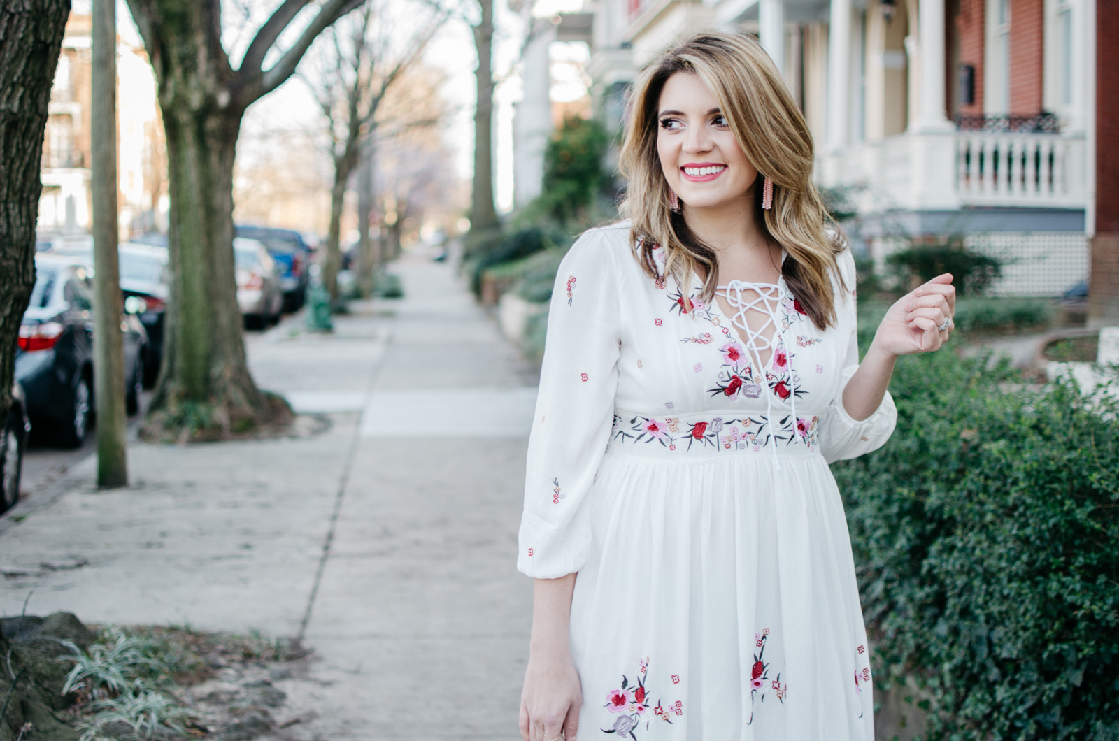 embroidered boho maxi dress - Click through for more cute Spring outfits or to shop this look! | www.bylaurenm.com