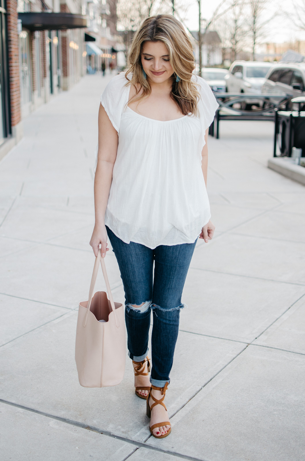 weekend outfit ideas spring - | Click through for more spring outfit ideas or to shop the look! www.bylaurenm.com