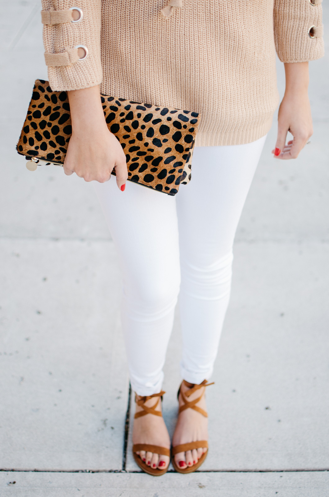 white jeans spring outfit - To get more cute Spring outfit ideas or to shop this look, click through to bylaurenm.com!