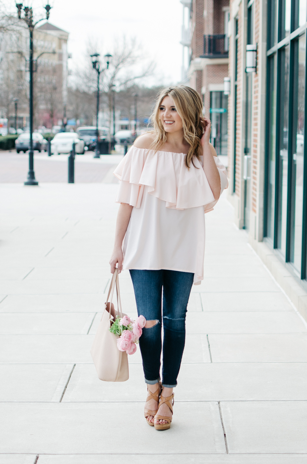 blush spring outfit - girly outfit for spring | For more pretty Spring outfits or to shop this look, head to bylaurenm.com!