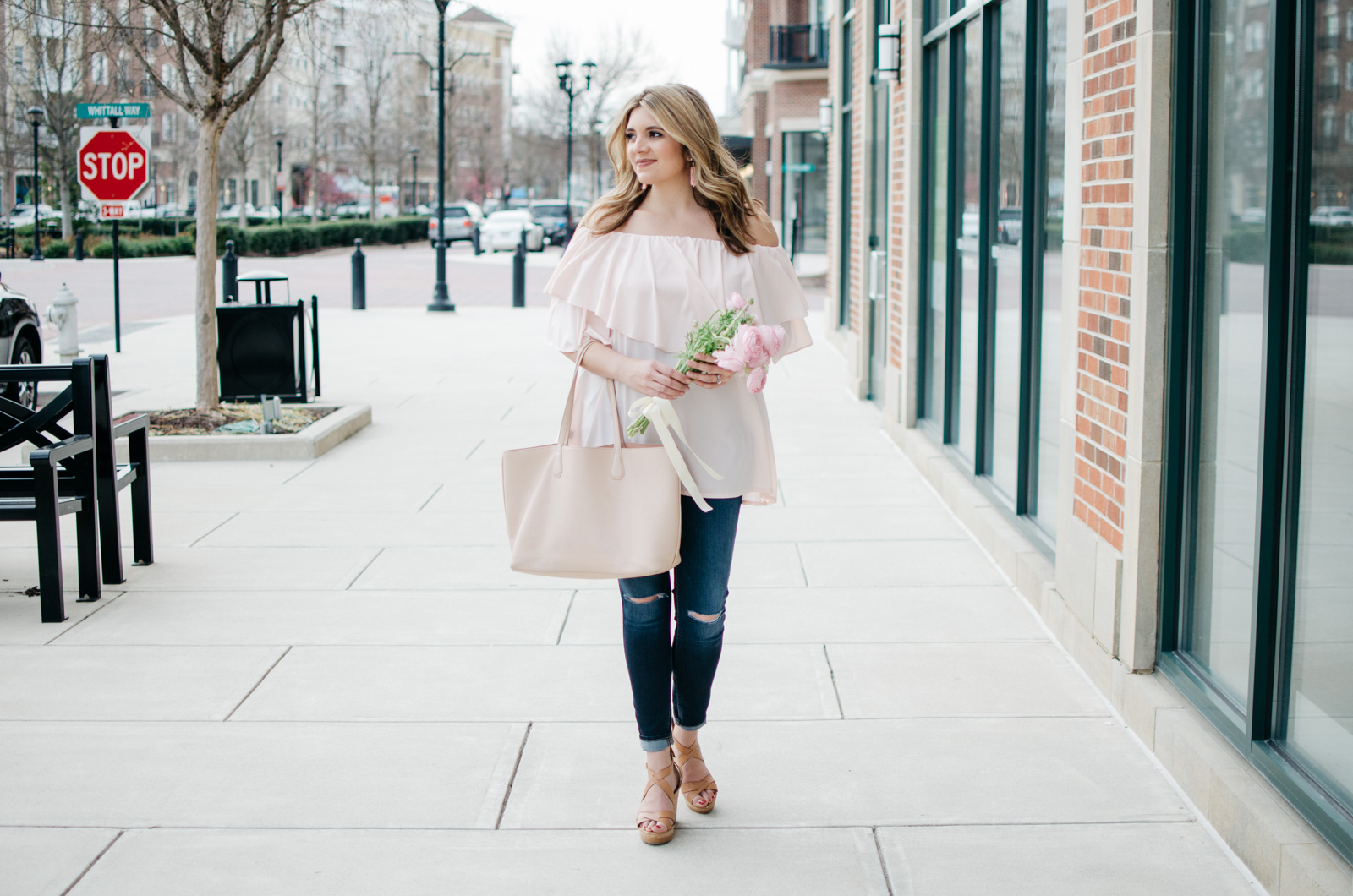 blush pink spring outfit | | For more pretty Spring outfits or to shop this look, head to bylaurenm.com!