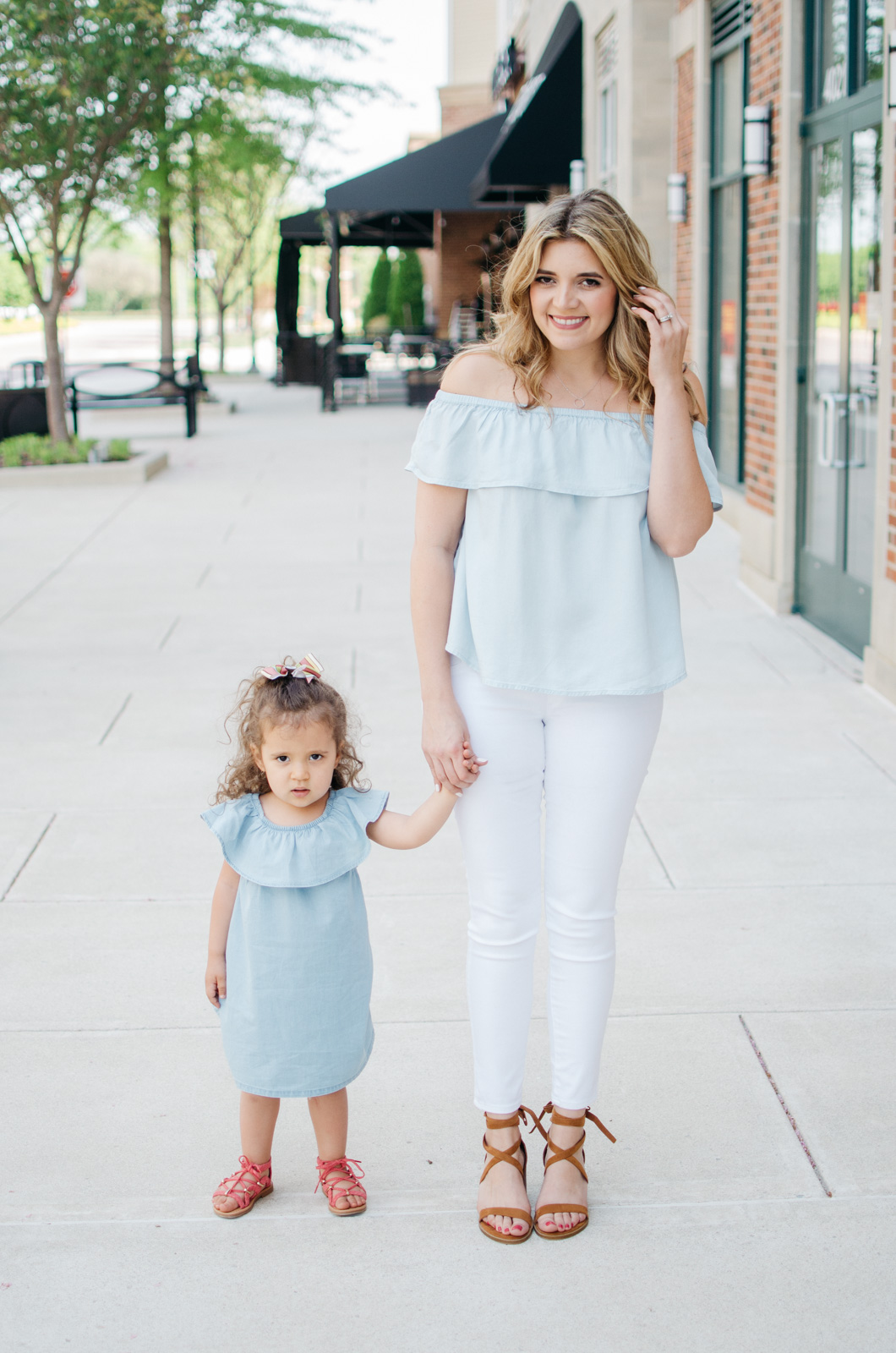 mother daughter spring outfit | For more cute Spring outfit ideas, head to bylaurenm.com!