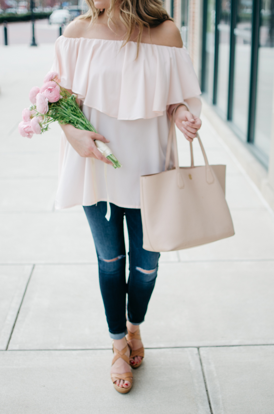 blush pink spring outfit - girly spring outfit idea. | | For more pretty Spring outfits or to shop this look, head to bylaurenm.com!