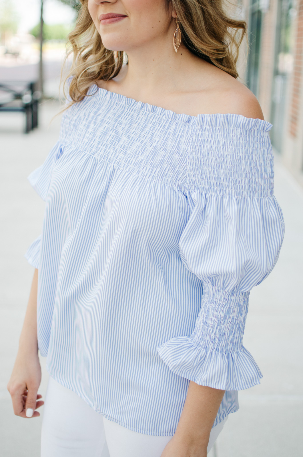 spring style - off shoulder outfit | Want more Spring outfit inspiration? Head to bylaurenm.com!