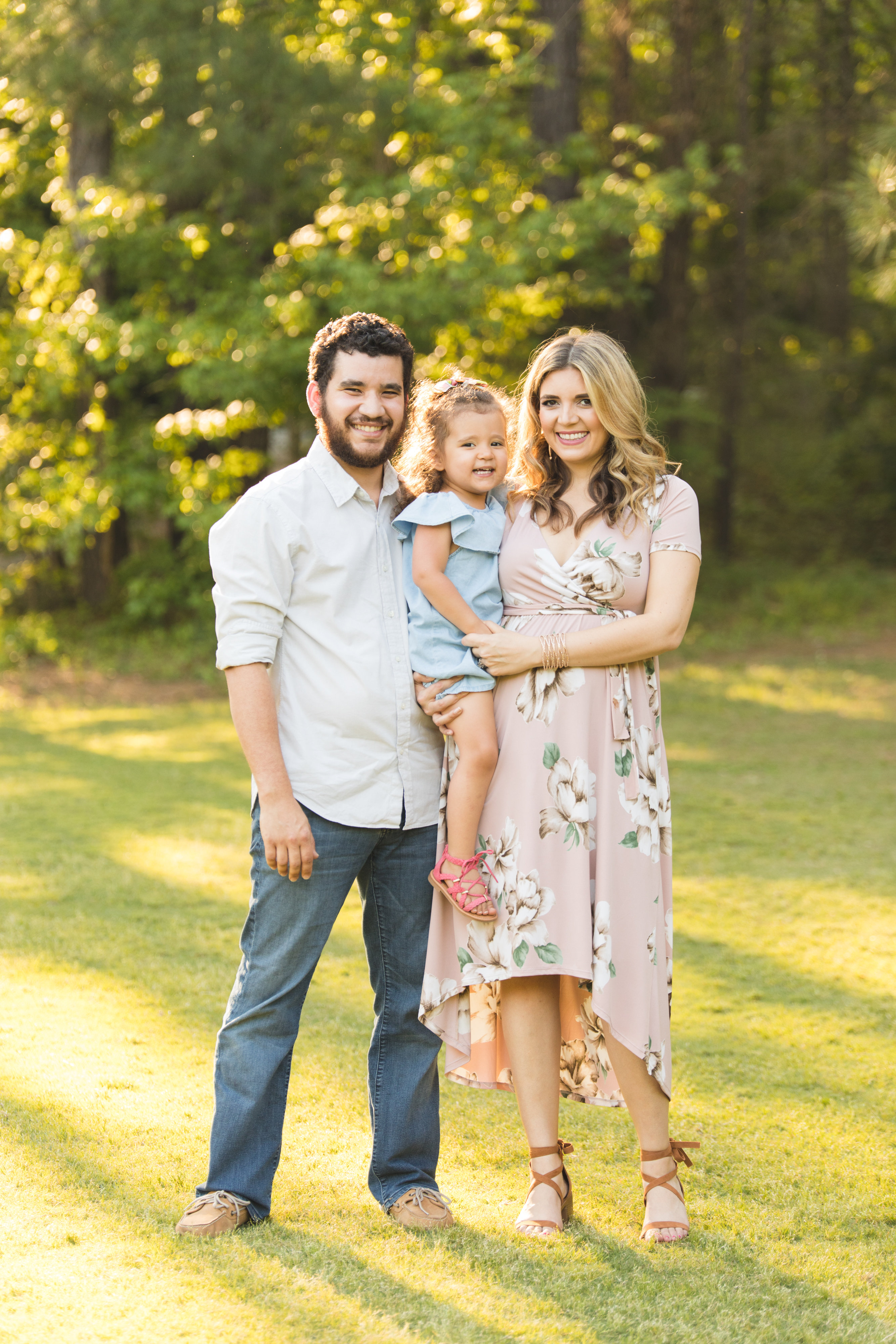 spring family photos - second baby pregnancy announcement | bylaurenm.com
