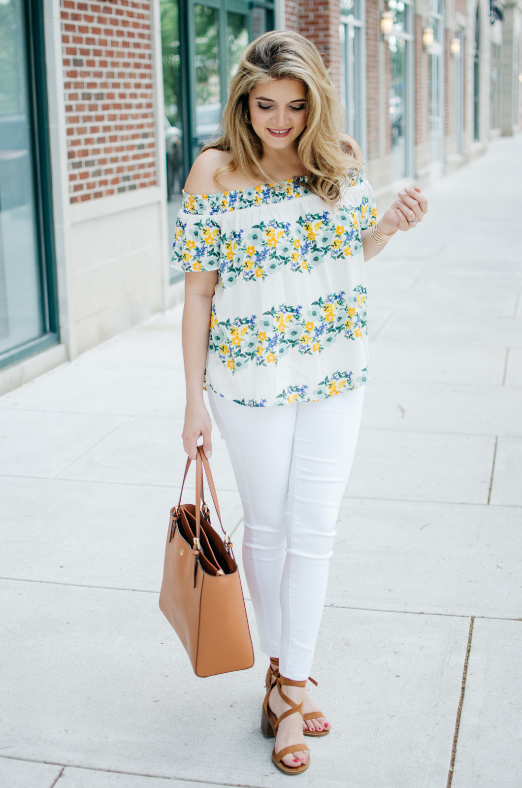all white outfit for spring - white jeans outfit | For more spring weekend outfits, head to bylaurenm.com
