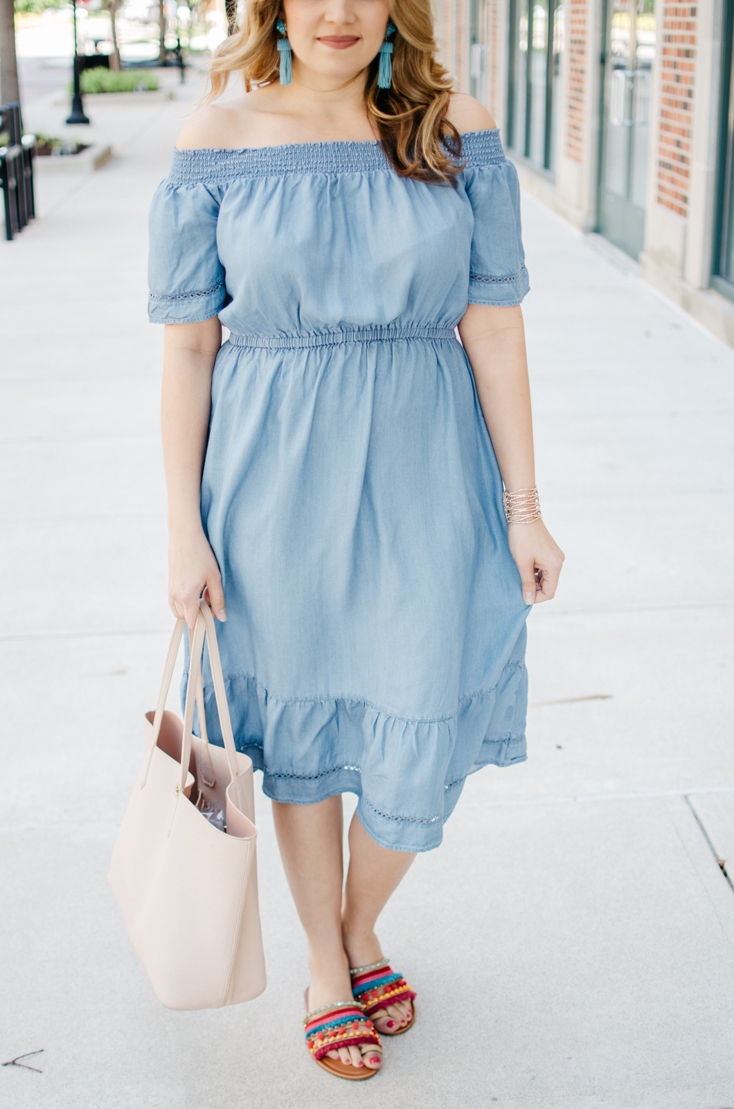 Summer Mommy Daughter Style Chambray Dresses By Lauren M