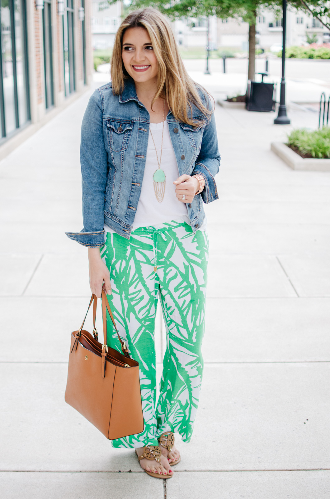 palazzo pants - printed pants outfit | For more Spring and Summer outfits, head to bylaurenm.com!