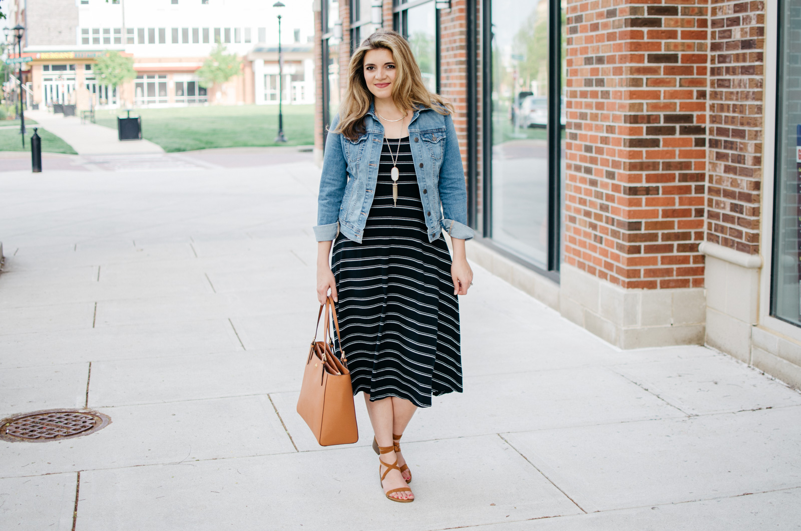 midi dress outfit for spring | For more Spring outfit ideas, head to bylaurenm.com!