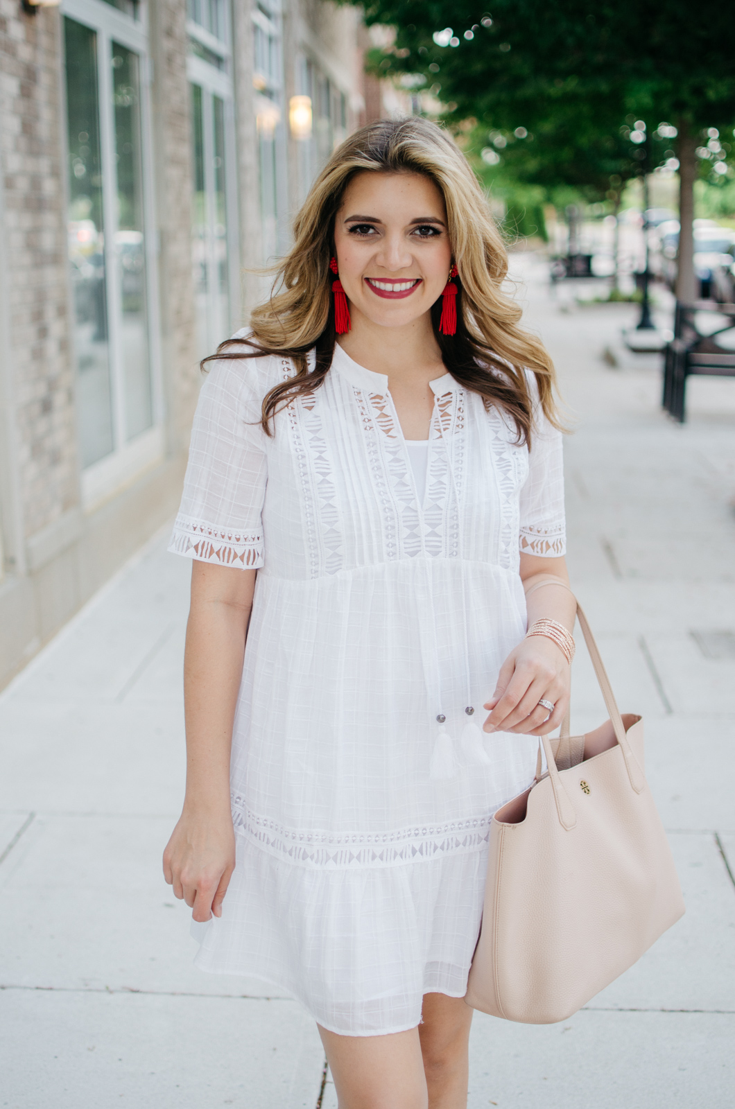 perfect white summer dress | For more cute weekend outfits, head to bylaurenm.com!