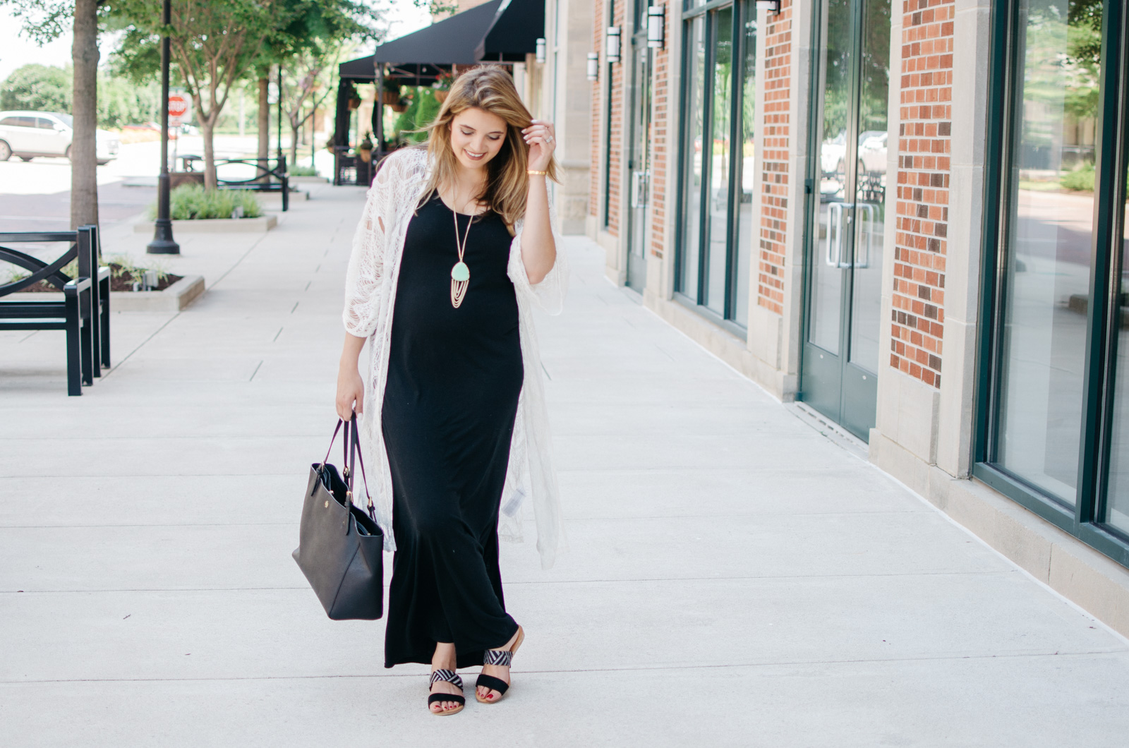 Maxi Dress Kimono Outfit | By Lauren M